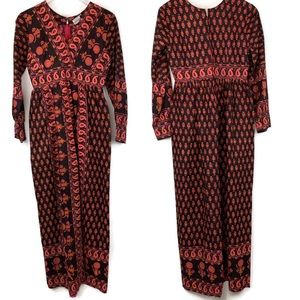 KARAVAN Vintage 70s India Cotton Boho Maxi Dress